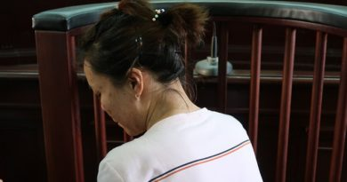 Bị cáo Hồng tại phiên xét xử