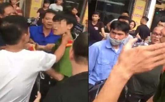 Hình ảnh nam thanh niên bị đánh được cắt ra trong clip