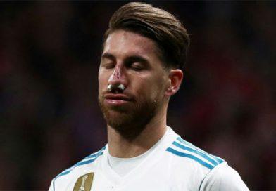 Ramos bị chấn thương mũi khi đối thương chơi xấu ở trận derby thành Madrid