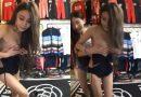"""""""Bó tay toàn tập"""" với cô gái vừa thay đồ vừa livestream bán quần áo"""