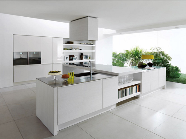 Không nên sơn bếp màu trắng, bạn sẽ mất thời gian bảo dưỡng lại