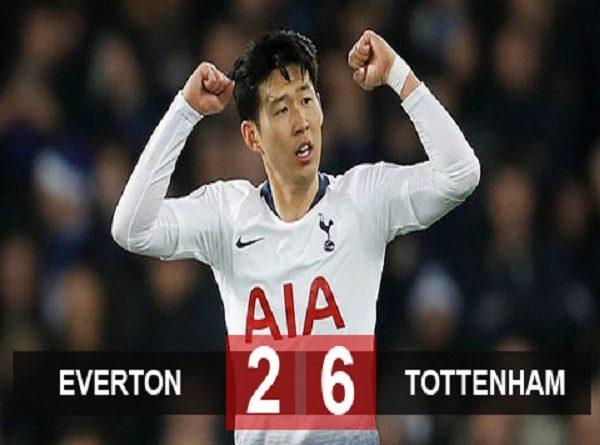 Everton 2-6 Tottenham: Bữa tiệc bàn thắng