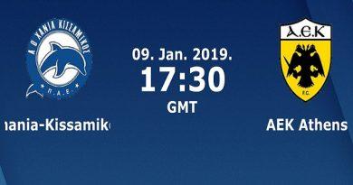 Nhận định Chania vs AEK Athens