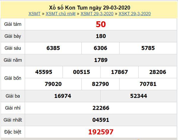 Soi cầu XSKT 26/4/2020 - KQXS Kon Tum hôm nay