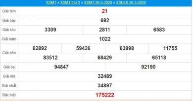 Thống kê XSDLK 2/6/2020 chốt KQXS ĐăkLắc thứ 3