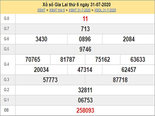 Dự đoán XSGL 7/8/2020