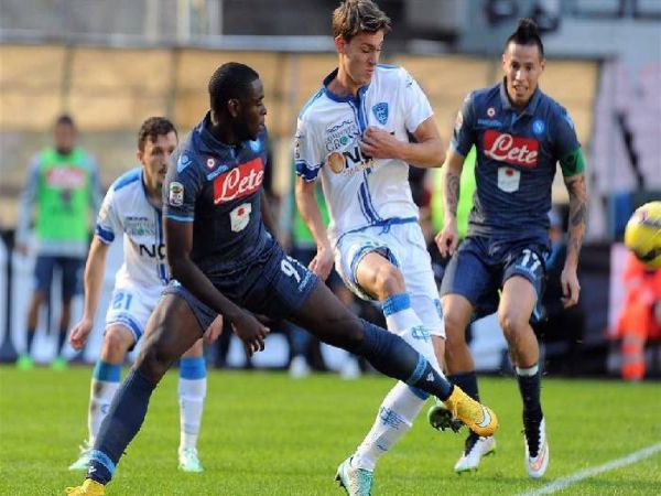 Nhận định tỷ lệ Napoli vs Empoli, 23h45 ngày 13/01 - Cup QG Italia