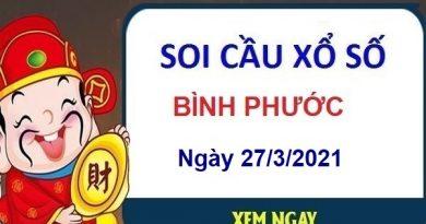 Soi cầu XSBP ngày 27/3/2021