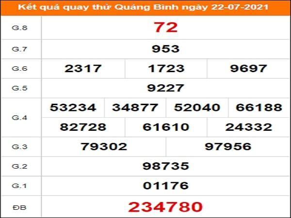 Quay thử Quảng Bình ngày 22/7/2021 thứ 5