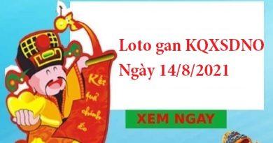 Loto gan KQXSDNO 14/8/2021