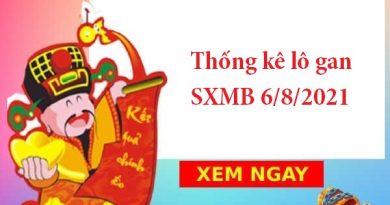 Thống kê lô gan SXMB 6/8/2021