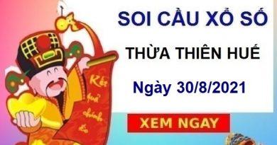 Soi cầu XSTTH ngày 30/8/2021