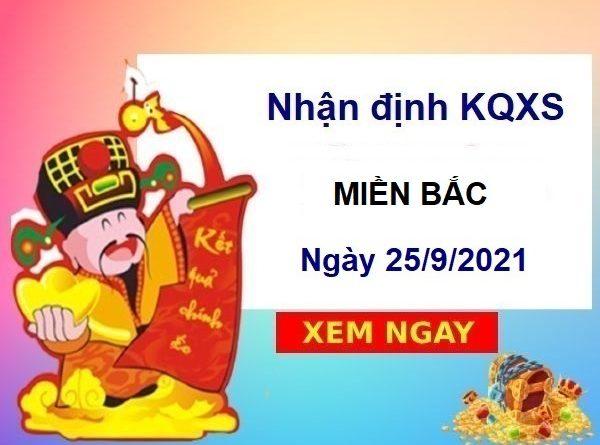 Nhận định KQXSMB ngày 25/9/2021
